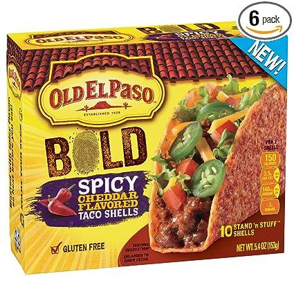 Old El Paso sin gluten Soporte N Stuff Bold Spicy Cheddar ...