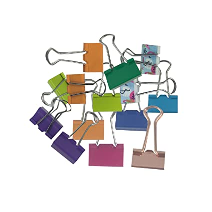 ICEBLUE Small Binder Clip 1 Inch Width 2 5 Inch Paper