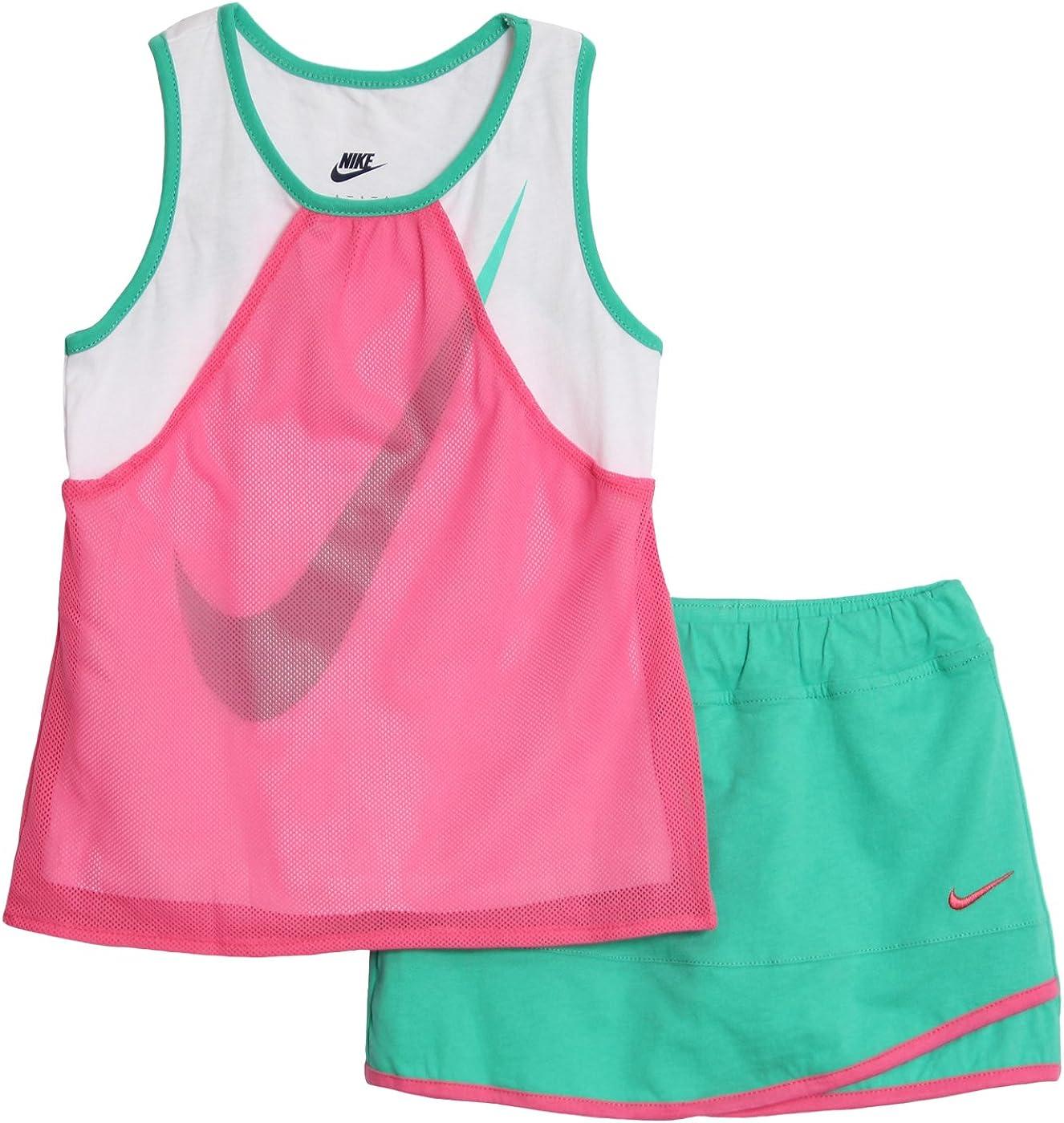 Nike niña 2 Piezas de Malla Conjunto de Top y Falda para Patinete ...