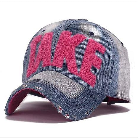 Gorras de béisbol de alta calidad tela vaquera Cap Gorra de béisbol Jean Carta bordados sombrero