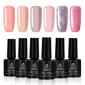 Amazon.com: Beetles 9 Toxin Free Gel Color Spring 2019 Glitter Pink ...