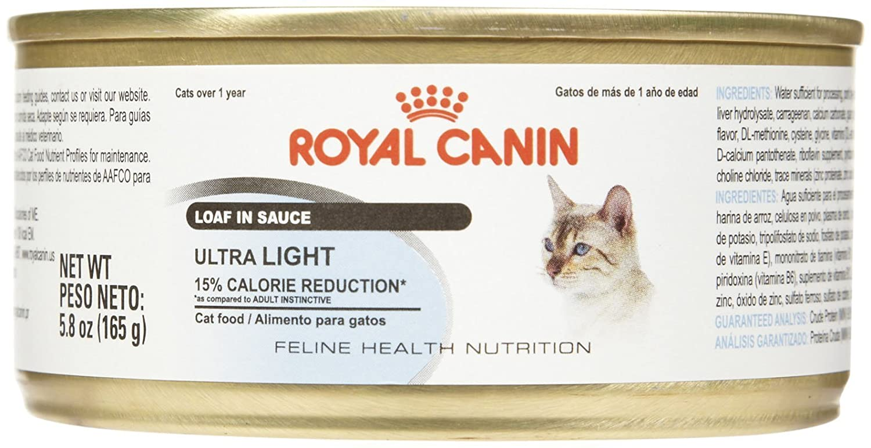Amazon.com : Royal Canin Feline Health Nutrition Ultra Light Loaf - 24x5.8 oz : Pet Supplies