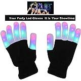 UPBASICN LED Gloves Light Up Rave Gloves, Finger Light Flashing LED Warm Gloves Lights Gloves ---3 Colors 6 Modes for Christmas Birthday Light Show Party