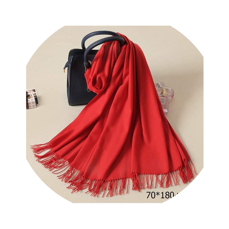 Women Scarf Warm Shawl Kerchief Wool Stole Head Neck Long