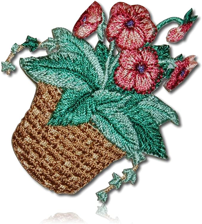 Morning Glory Embroidery Sew Patch Badge Embroidered Fabric Applique Iron On