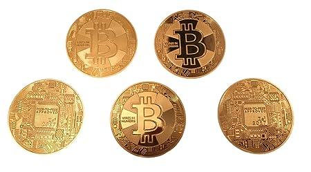 5 Stück Bitcoin Münzen Angreifbare Physische Deko Münzen Für