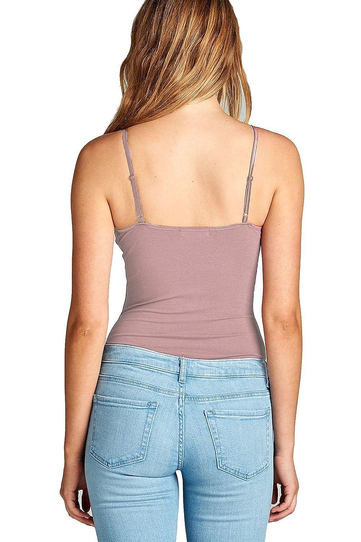 Hollywood Star Fashion Snap Crotch Thin Strap Leotard Bodysuit Camisole Bodysuit Camisole