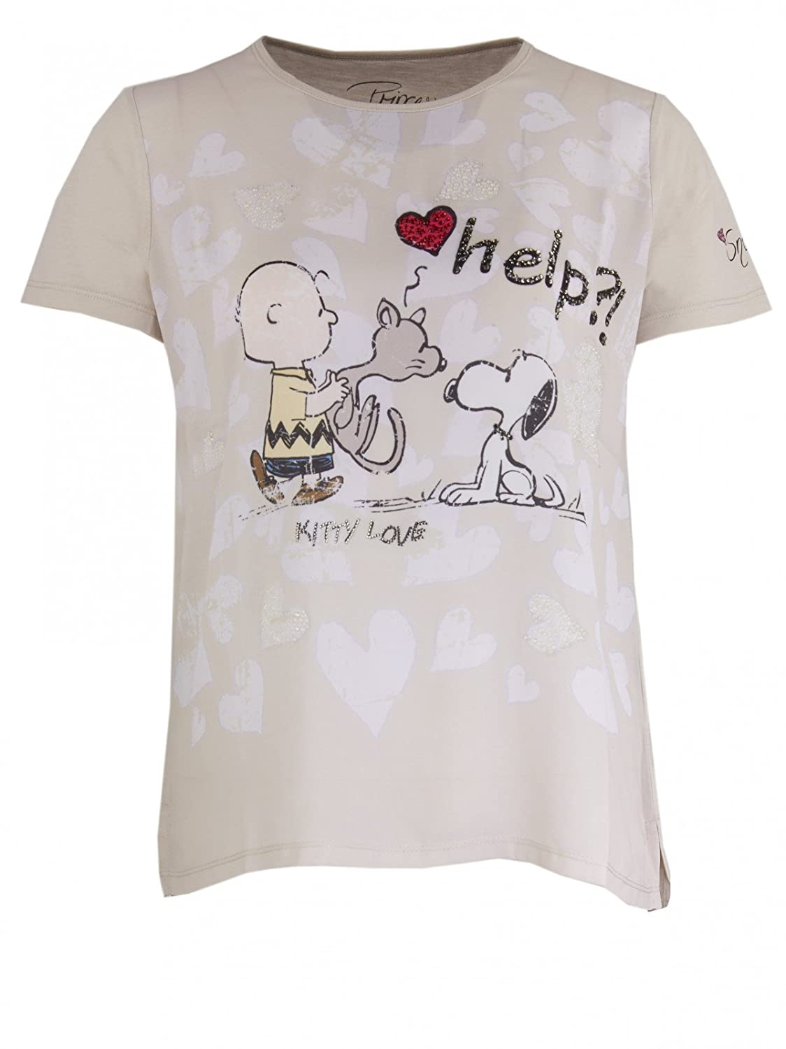 Princess goes Hollywood Damen Snoopy Kitty Love T-Shirt in Beige