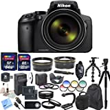Nikon COOLPIX P900 Digital Camera with 83x Optical Zoom and Built-In Wi-Fi (Black) & CS Professional Package - International Version