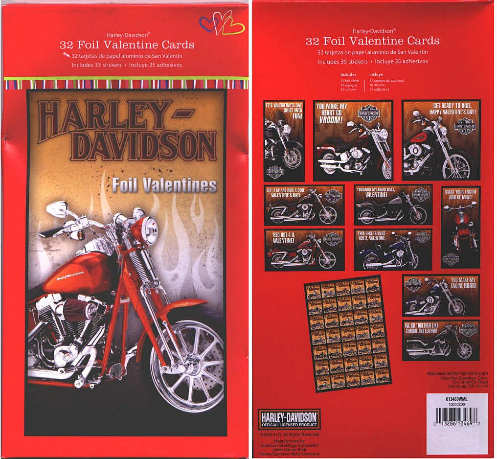 Amazon harley davidson 32 foil valentine cards greeting amazon harley davidson 32 foil valentine cards greeting cards office products kristyandbryce Gallery