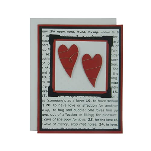 Amazon Com Valentine S Day Greeting Card Two Red Hearts Wrapped
