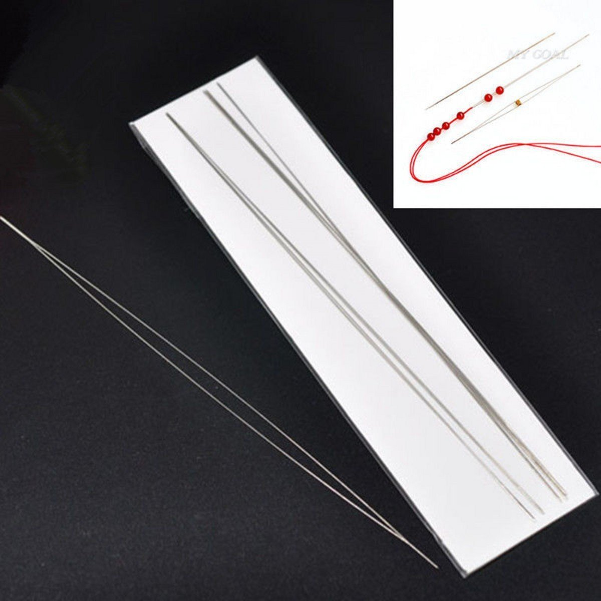 12.5cm,11.5cm,10cm,7.5cm,6cm,4cm WellieSTR Lot Of 6pcs Different Size Large Eye Beading Needles Kits