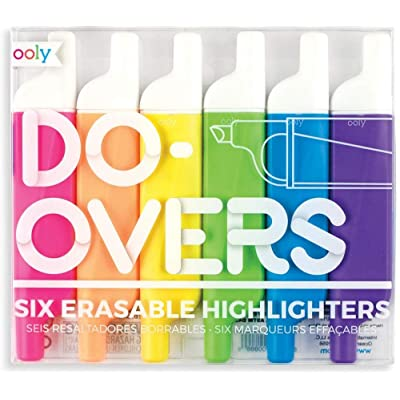 Ooly Do Over Highlighters - Set of 6 : Office Products