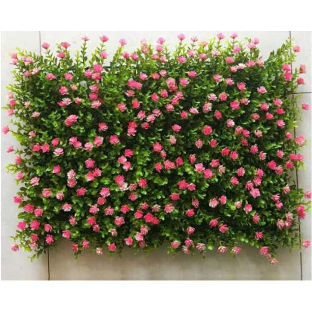 MS Furniture Background Flower Wall Flower Wall Partition Fake Turf Indoor and Outdoor Wall Door Flower and Flower Shop Plant Wall Decoration (40x60CM) @ (Color : E) by MS Furniture
