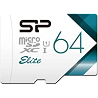 Silicon Power 64GB UHS-I / Class 10 MicroSD Memory Card with Adapter (SU064GBSTXBU1V21AD)