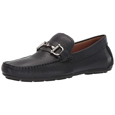 Driver Club USA Mens Genuine Leather Made in Brazil Park Ave Buckle Loafer, navy grainy 10 M US | Loafers & Slip-Ons