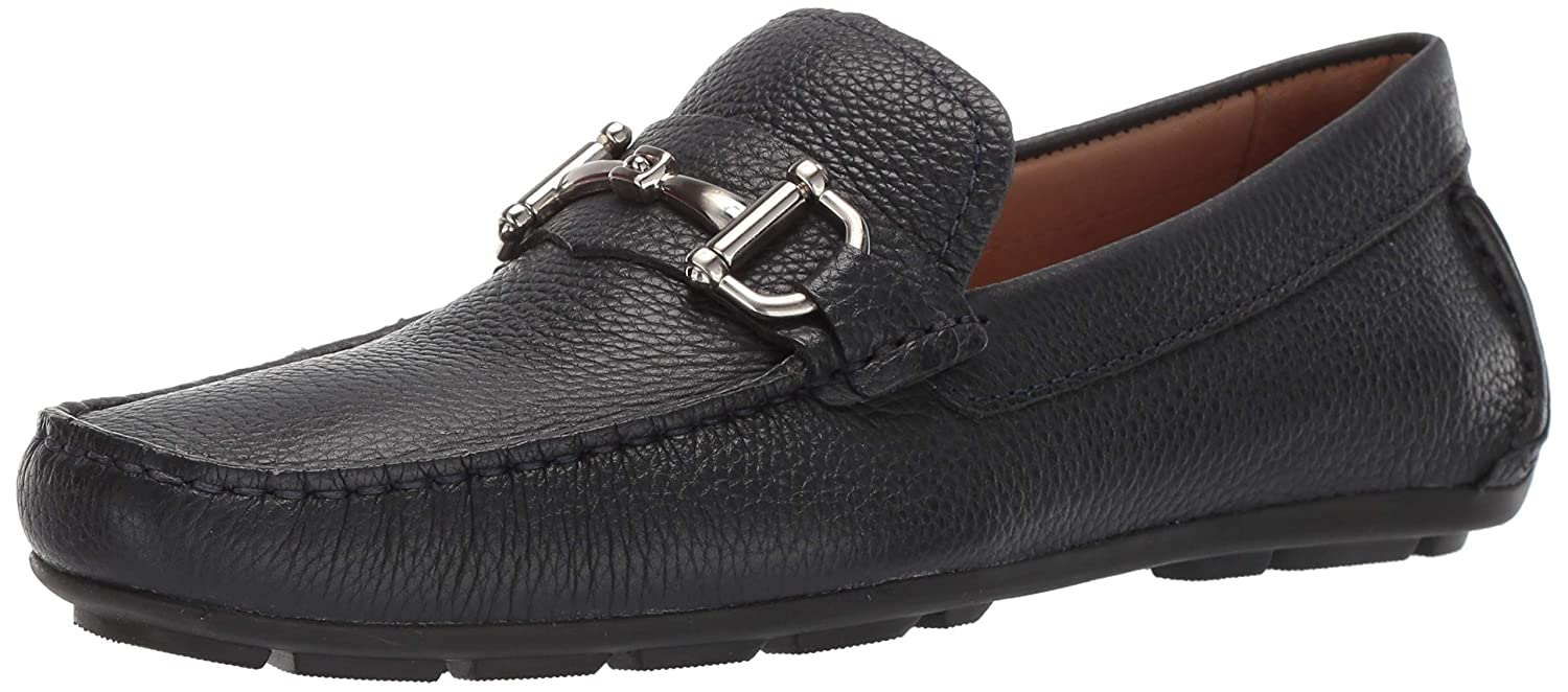 Navy Grainy Driver Club USA Mens Mens Genuine Leather Made in Brazil Park Ave Buckle Loafer Loafer