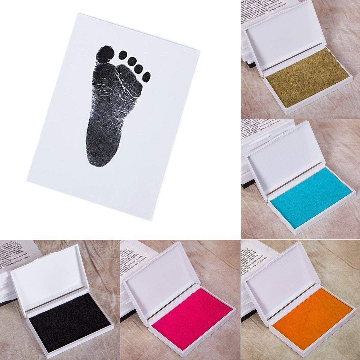 Queenbox Hand /& Foot Print and Footprint Ink Pads Blue Safe Print Kit for Baby Souvenir Gift