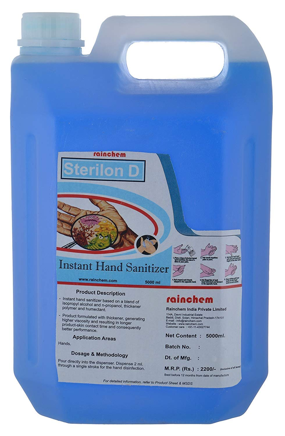 Buy Rainchem Sterilon D Multi Purpose Instant Hand Wash Sanitizer