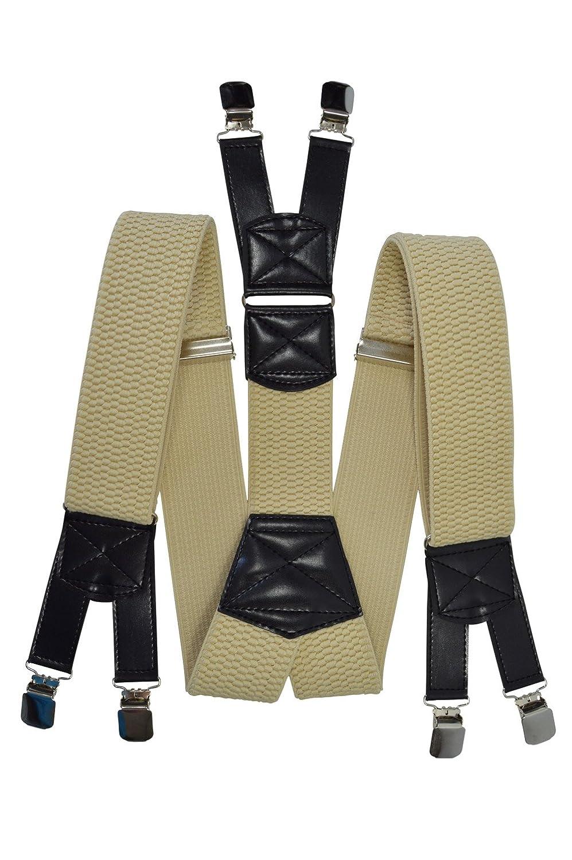 Thick Fabric Heavy Duty X-Shape Braces//Suspenders Men/'s XXL Extra Wide 5cm