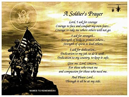 Amazon Army Soldiers Prayer Great Gift Idea For Fathers Day