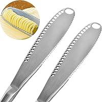 OurLeeme 2PCS Cuchillo esparcidor de mantequilla de acero