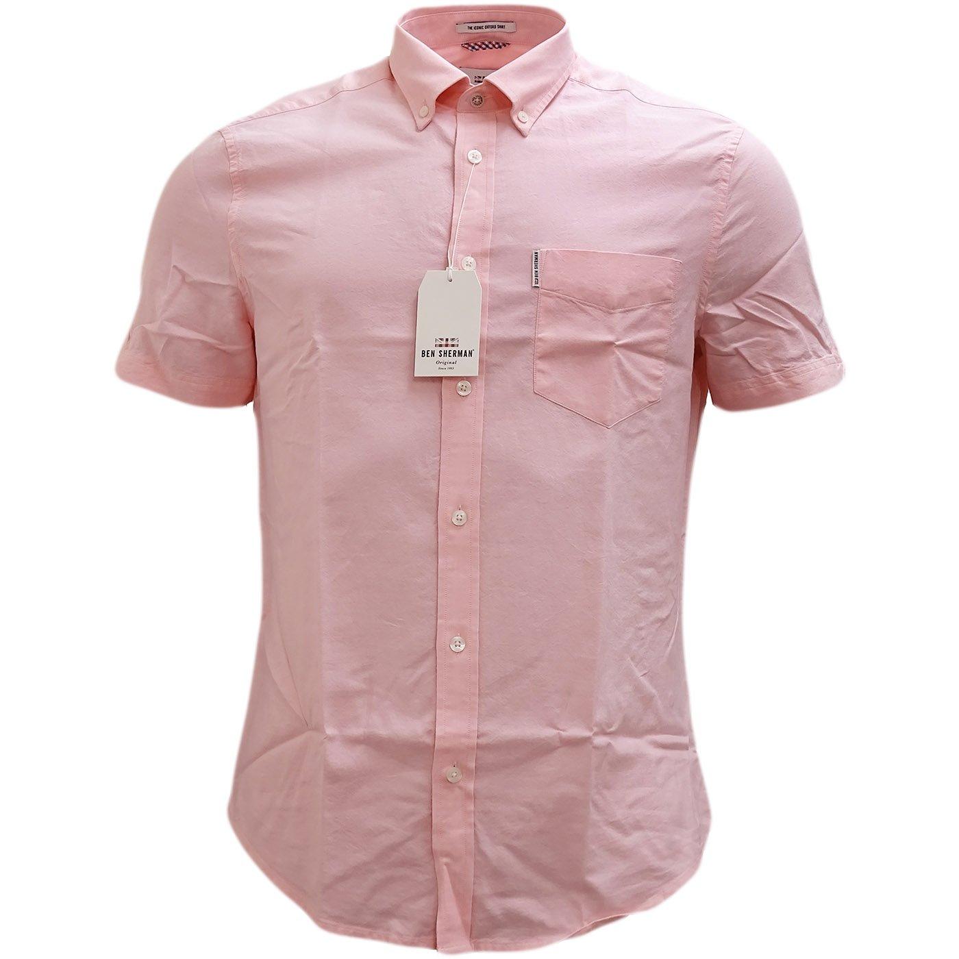 Ben Sherman Plain Button Down Oxford Shirt - Ma13606 Pink L