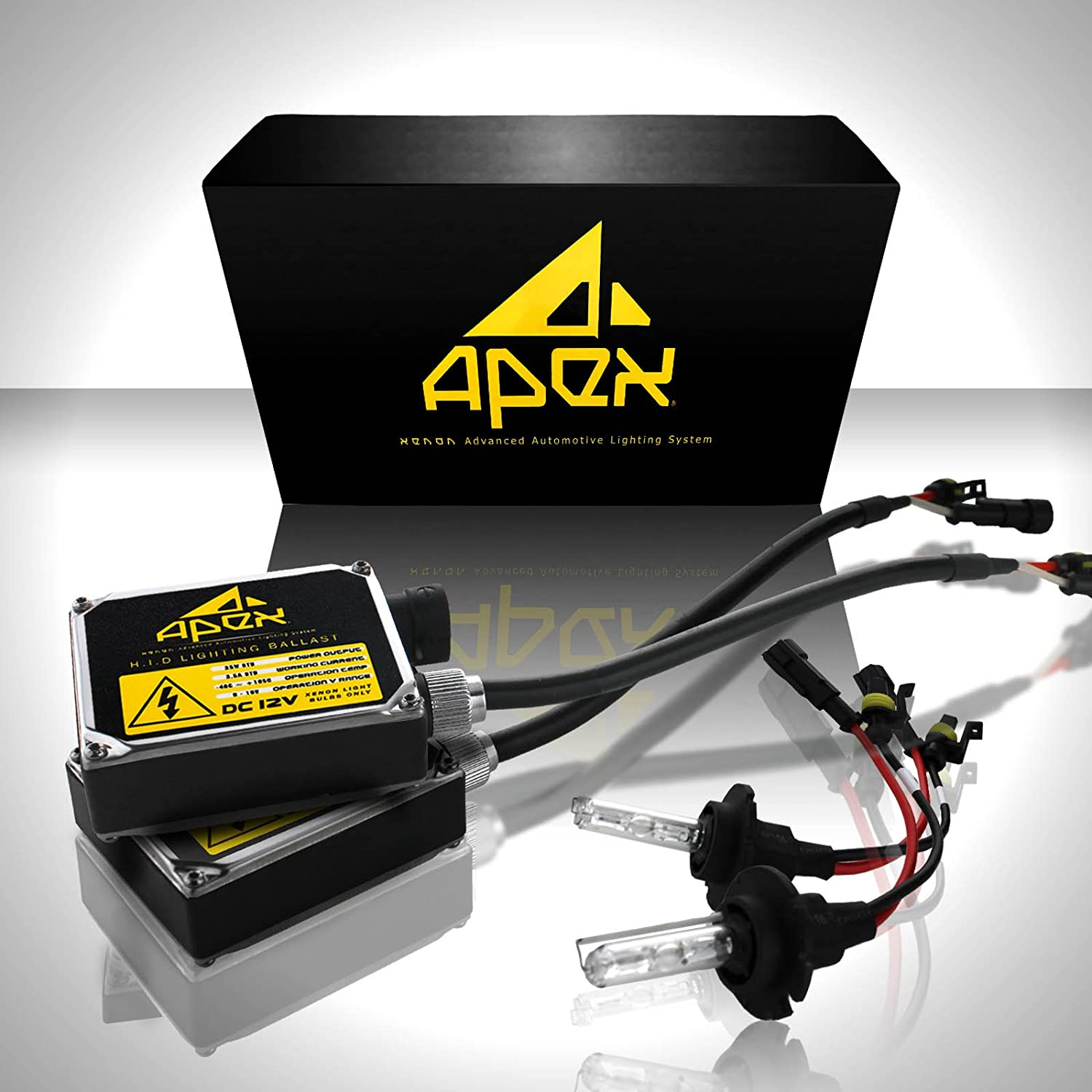 Apex 9006 Hb4 Xenon Hid Conversion Kit 5k 5000k Oem Powerstroke Wiring Harness Sleeve White Color All Bulb Sizes And Colors With Premium Digital Ballasts Hids Kits