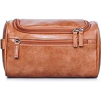 VASKER Travel Hanging Toiletry Bag for Men Waterproof (Brown)