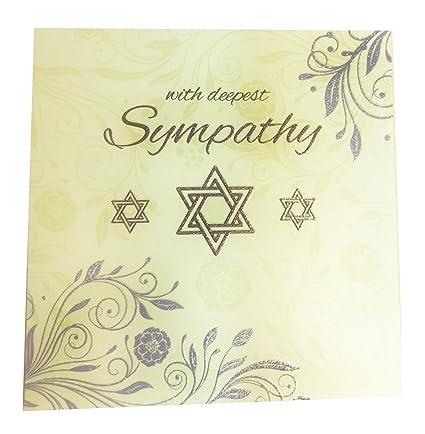 Luto Tarjeta con más profunda simpatía Condolencias judío estrella de David hebreo