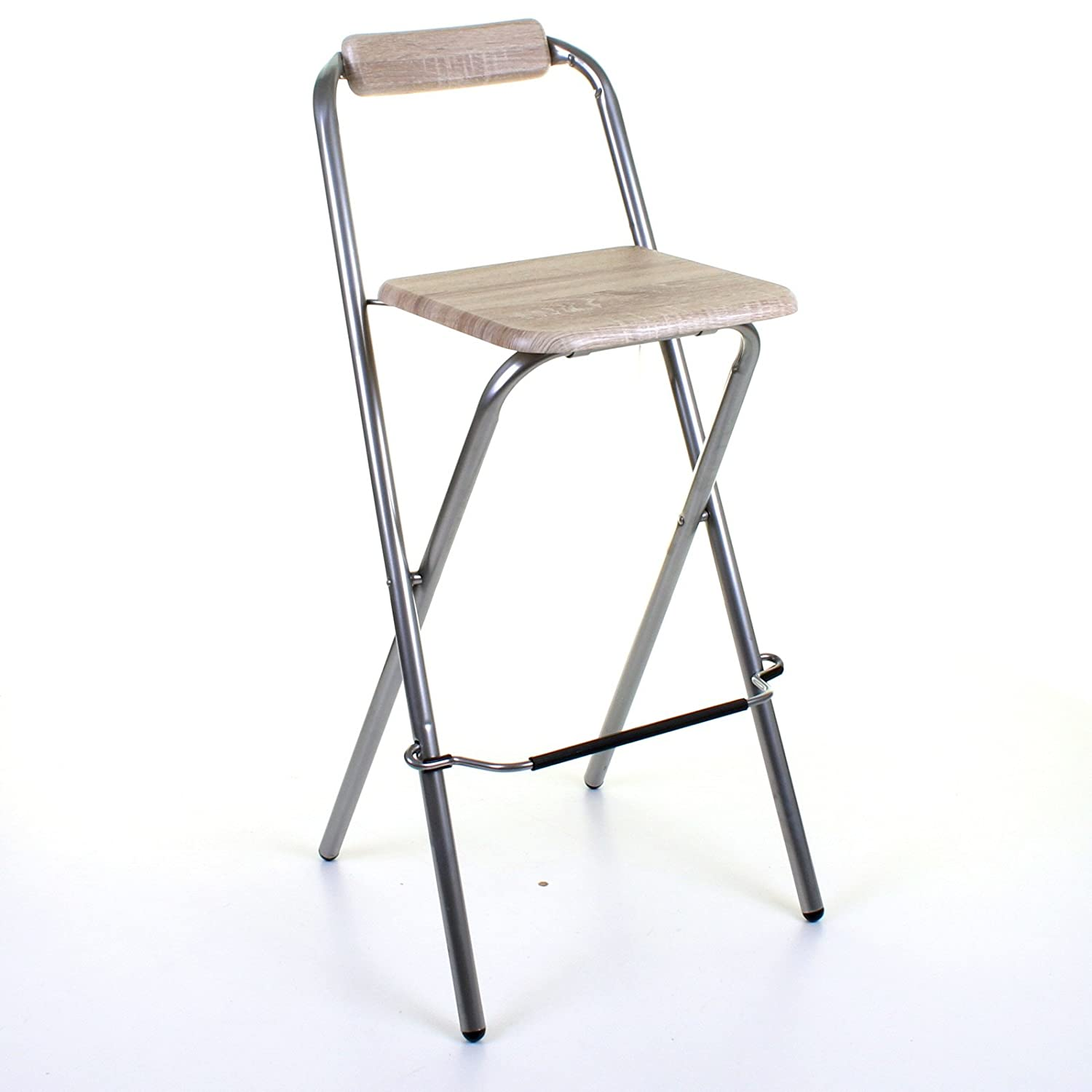 Marko Furniture Folding Wooden Bar Stool Chair Breakfast Kitchen