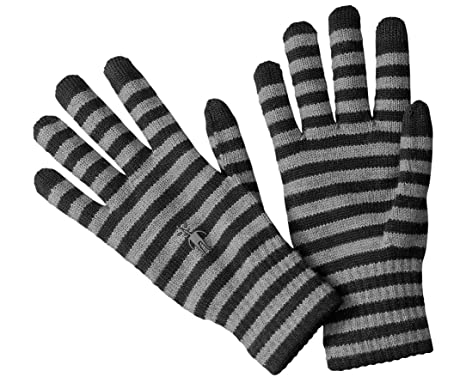 SmartWool Striped Liner Gloves (Black) X-Small