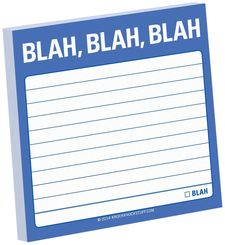 Knock Blah Sticky Note product image