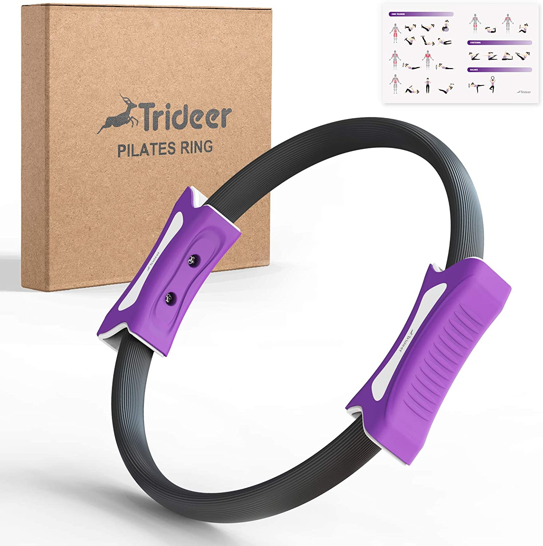 Dual Grip Magic Exercise Circle Pilates Double Handle Ring