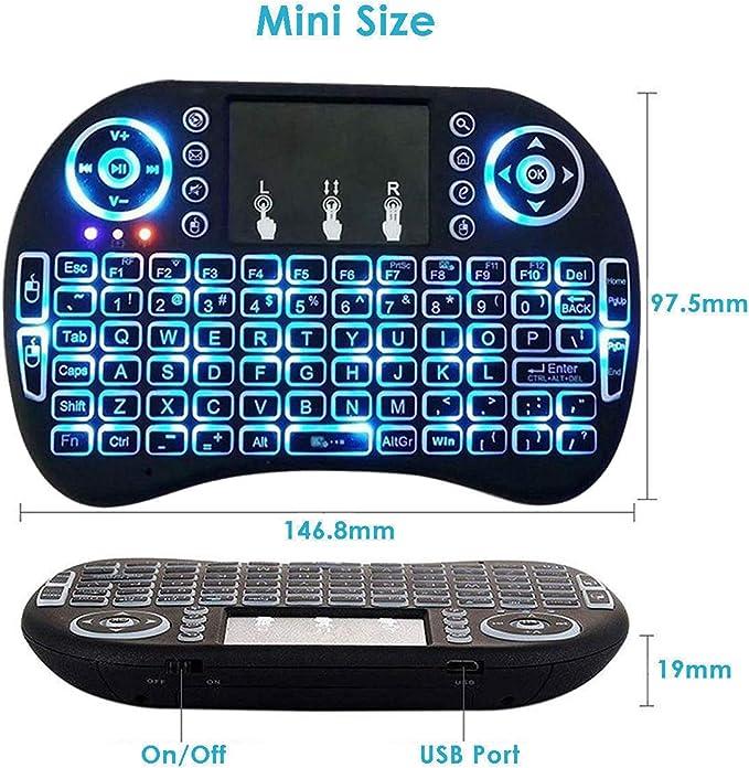 FidgetFidget Mini Teclado Remoto inalámbrico para Samsung LG Smart TV Android Kodi TV Box: Amazon.es: Electrónica