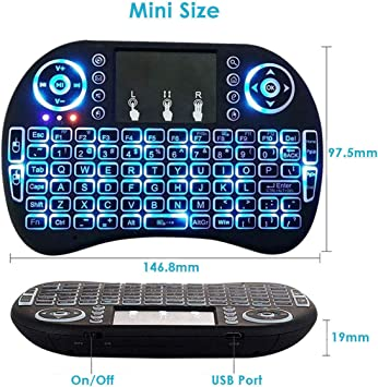 FidgetFidget Mini Teclado Remoto inalámbrico para Samsung LG Smart TV Android Kodi TV Box: Amazon.es: Electrónica