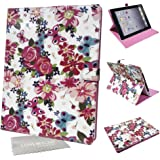 LOVE MY CASE / Stylish White & Pink Floral Butterfly Case, Cover For Apple iPad 2, 3, 4 with LMC Cloth