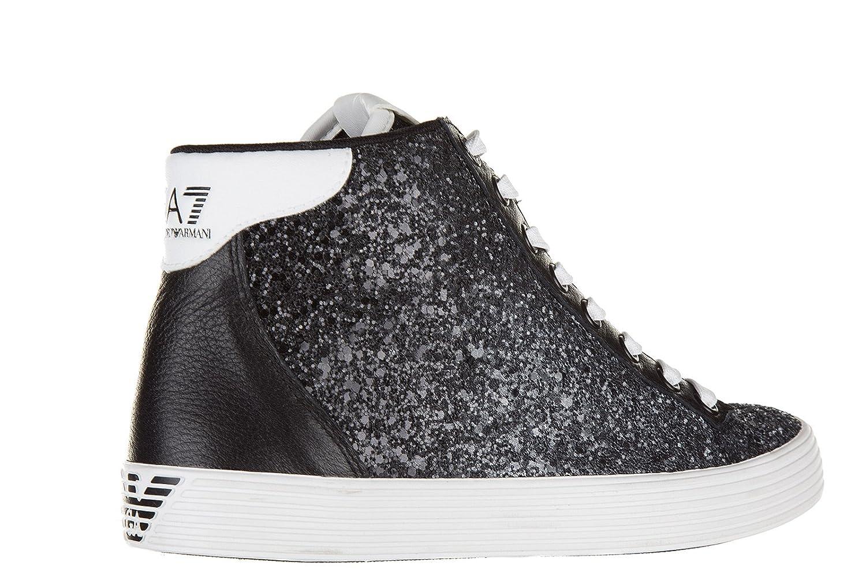 Emporio Armani EA7 Scarpe Sneakers Alte Donna Nuove Originale Pride Nero   Amazon.it  Scarpe e borse a7e25a51669