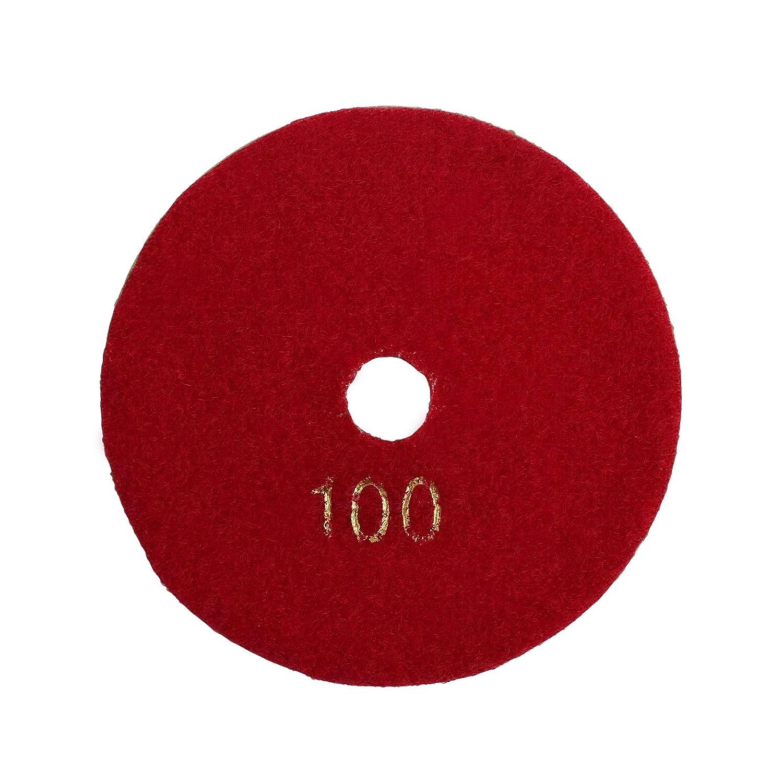 Juego de 10 discos de diamante para pulir en seco y h/úmedo de 100 mm M14 para m/ármol granito cemento Proster