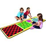 Melissa & Doug 4-in-1 Game Rug (78.5 x 26.5 inches) - 4 Board Games, 36 Game Pieces