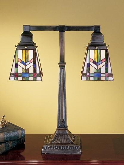 Amazon Com 19 5 Inch H Prairie Wheat 2 Arm Desk Lamp Table Lamps