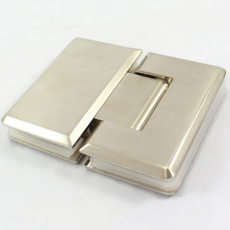 Di Vapor (R) 180 Degree ducha Bisagra puerta soporte | pulido acabado de ní quel satinado