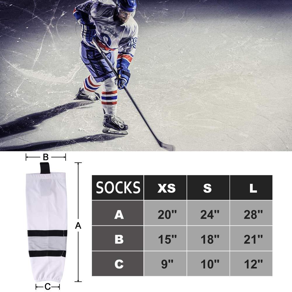 COLDINDOOR Ice Hockey Socks Youth, Boy Child Hockey Practice Dry Fit Mesh Hockey Socks Kids XS Blue by COLDINDOOR (Image #2)