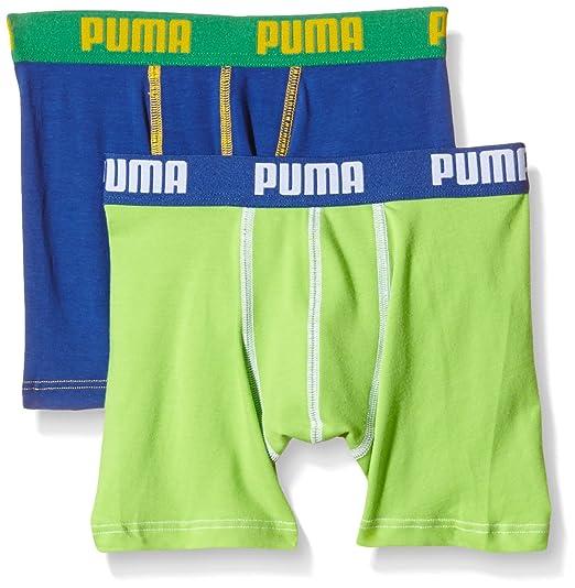 2 opinioni per Puma 525015001-Boxer per Bambini, 2 Pezzi, Multicolore (Blue/Jelly Bean), 10