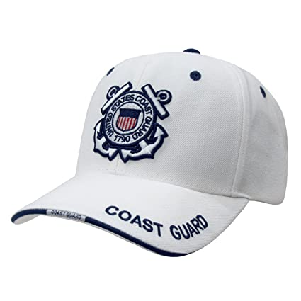 931d5679d66 Image Unavailable. Image not available for. Color  Rapid Dominance US Coast  Guard Baseball Ball Cap Hat(White ...