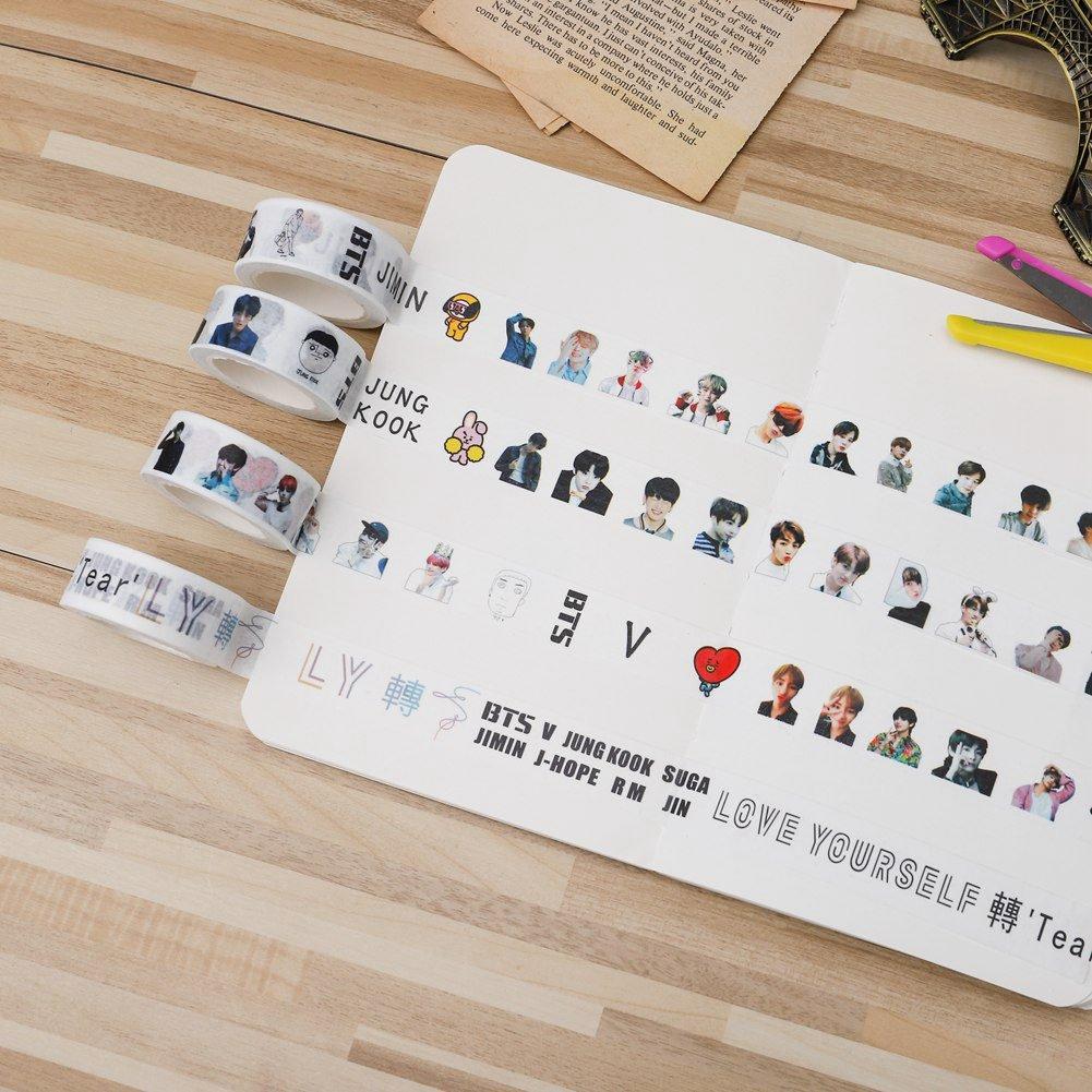 Skisneostype BTS - Cinta adhesiva de dibujos de dibujos ...