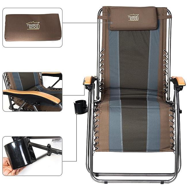 Timber Ridge Oversize Zero Gravity Chair Padded Recliner