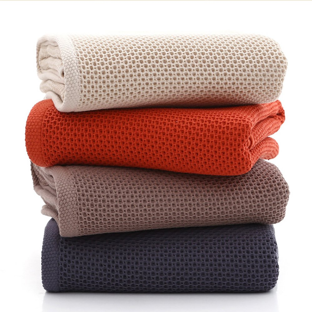 100% Cotton Bath Towels - Natural, Ultra Absorbent and Eco-Friendly, Luxury Hotel & Spa Quality, 27'' X 55'' (Set of 4)