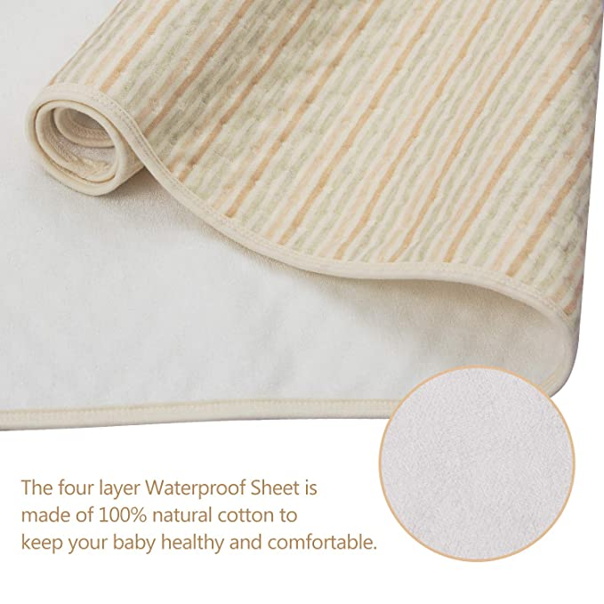 70 100cm Waterproof Cotton Mattress Protector Pads Diapering Sheet for Baby Toddlers Children Baby Changing Mat by HBselect