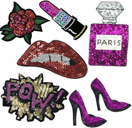 Sequin Patch Colorful N 21